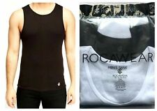 Mens Rocawear Summer Vests Gym Tank Tops Black White 100% Cotton Pack of 2