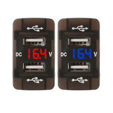 5V/3.1A Dual USB Port Car Power Socket Plug LED Voltmeter for Honda DC 12V/24V