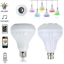 New Bluetooth Set Remote Led Rgb With Control Bulb Light Music B22/e27 Speaker