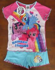GIRLS SHORT SUMMER PYJAMAS PJS MY LITTLE PONY KIDS CHILDRENS CHARACTER SLEEPWEAR