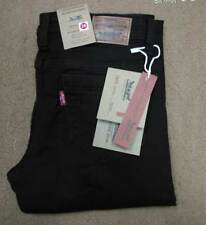 Ladies Women Stretchable Skinny Fit Levis Black Jeans Mid waist Full Length