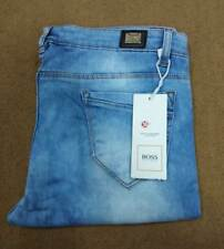 Ladies Women Stretchable Skinny Fit Hugo Boss Blue Jeans Mid waist Rugged Jeans