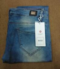 Women Stretchable Skinny Fit Hugo Boss Green Blue Jeans Mid waist Rugged Jeans