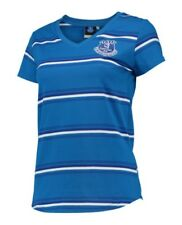 Womens 8 Official EVERTON FC Stripe T Shirt Football Top Gift Ladies