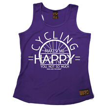 Cycling Make Me Happy Cycling funnyáBirthdayáWOMENS GIRLIE TRAINING VEST