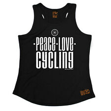 Peace Love Cycling Cycling funnyáBirthdayáWOMENS GIRLIE TRAINING VEST