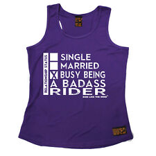 Relationship Status Badass Rider Cycling funny Birthday GIRLIE TRAINING VEST