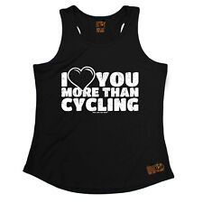I Love You More Than Cycling Cycling funnyáBirthdayáWOMENS GIRLIE TRAINING VEST