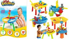 Kids Sand &Water Table Beach Sandpit Garden Play Set Spade Bucket Outdoor Toy ES