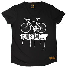 Ladies Cycling Burn Fat Not Oil Breathable átee T SHIRT DRY FIT V NECK T-SHIRT