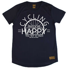 Ladies Cycling Cycling Make Me Happy Breathable T SHIRT DRY FIT R NECK T-SHIRT