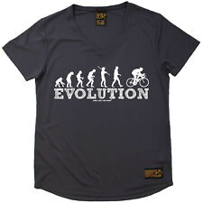 Ladies Cycling Evolution Cycling Breathable átee T SHIRT DRY FIT V NECK T-SHIRT