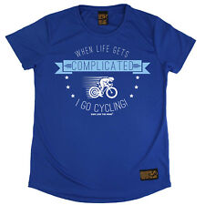 Ladies Cycling I Go Cycling Breathable sports T SHIRT DRY FIT R NECK T-SHIRT