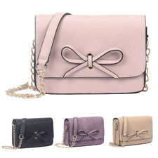 New Womens Arabella Bow Leather Satchel Crossbody Shoulder Bag Messenger Handbag