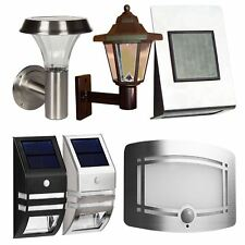 Solar Powered Outdoor Garden Night Motion Sensor Patio Shed Wall Lights Lamp