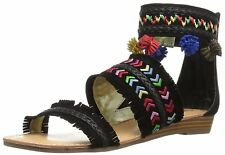 Carlos by Carlos Santana Womens Tangier Leather Open Toe Casual Ankle Strap S...