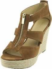 MICHAEL Michael Kors Womens DAMITA Leather Open Toe Casual Platform Sandals