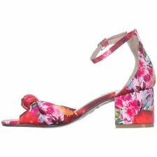 Betsey Johnson Womens Ivee Fabric Peep Toe Formal Ankle Strap Sandals