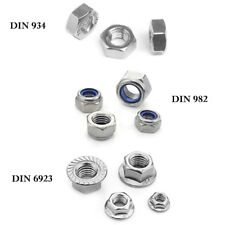 Stainless Metric M2-M10 Full Nuts Serrated Flange Lock Nut Nylon Hex Head A2 A4