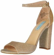 Betsey Johnson Womens Carly Open Toe Casual Ankle Strap Sandals