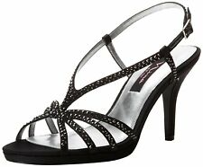 Nina Womens Bobbie Open Toe Special Occasion Ankle Strap Sandals