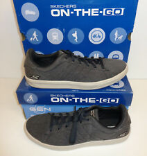 Skechers Mens Memory Foam Trainers Shoes Black Meteno Lace Up New Sizes 5.5-7.5