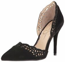 Jessica Simpson Womens Teriann Leather Pointed Toe D-orsay Pumps