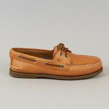SPERRY Mens Topsider Authentic Original 2 Eye Boat Shoe in SAHARA LEATHER