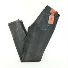 James Jeans Womens Straight Leg 4 Pocket Twiggy Glossed Denim Dark Wash Sz 27 28