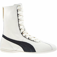 PUMA X RIHANNA ESKIVA WOMEN'S WHITE LEATHER HIGH TOP TRAINERS (UK 3.5, UK 4.5)