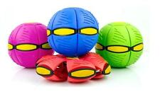 UK STOCK Flat Ball Disc Flying UFO Throw Toy Soft Kids Outdoor 4 Colours