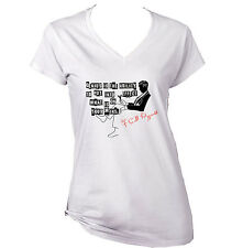 SCOTT FITZGERALD GENIUS IS THE ABILITY - NEW WHITE COTTON LADY TSHIRT