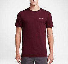 HURLEY MENS S M L ONE & ONLY DRI BLEND TSHIRT TOP BRAND NEW SURF GYM TEE MAROON