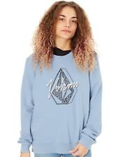 Pullover Donna Volcom Sound Check Washed Blu