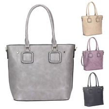 Womens Stefani Large PU Leather Tote Crossbody Shoulder Bag Hobo Shopper Handbag