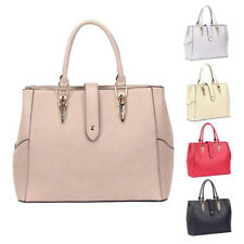 Womens Brooklyn PU Faux Leather Tote Crossbody Shoulder Bag Hobo Shopper Handbag
