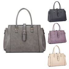Womens Kylie Buckle PU Leather Tote Crossbody Shoulder Bag Hobo Shopper Handbag
