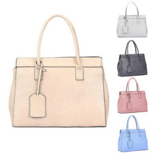 Womens Layla Travel Tag Leather Tote Crossbody Shoulder Bag Hobo Shopper Handbag
