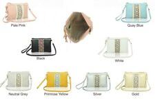 New UK Ladies Embroidered & Pearl Traditional Style Clutch Handbag Messenger Bag