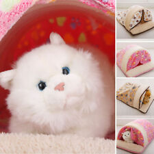 Pet Cat Dog Nest Bed Puppy Soft Warm Cave House Winter Sleeping Bag Mat Pad Tent