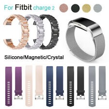For Fitbit Charge 2  Watch Strap Wrist Band Stainless Steel Crystal Classic UK S