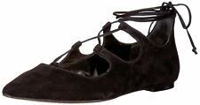 Vince Camuto Womens EMMARI Pointed Toe Ankle Wrap Ballet Flats