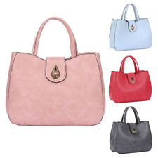 Womens Mollie PU Faux Leather Tote Shoulder Bag Hobo Shopper Crossbody Handbag