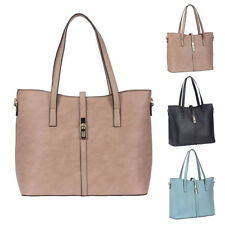 Womens Petrina PU Faux Leather Tote Crossbody Shoulder Bag Hobo Shopper Handbag