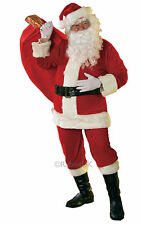Deluxe Rubies Velour Santa Suit Father Christmas Xmas FancyDress OUTFIT 8 Piece