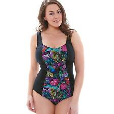 Elomi Kaleidoscope Gathered Swimsuit - Moulded Cups in Black (7431)