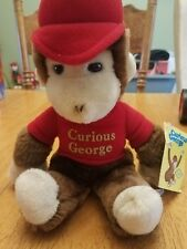 Curious George Stuffed Plush Animal Red Outfit Eden with Tag 11 inches