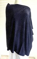 Deliciously soft knit diamante encrusted multi way poncho / shrug with cashme...