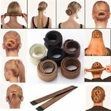 UK Women's Magic Hair Bun Snap Styling Donut Former French Twist Band Maker Tool