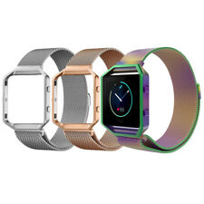 Magnetic Milanese Stainless Steel Wrist Band for Fitbit Blaze Fitness Tracker